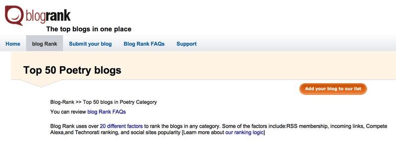 Blogrank header