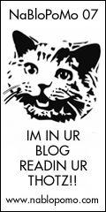 National Blog Posting Month '07