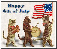 cats celebrating the fourth of july