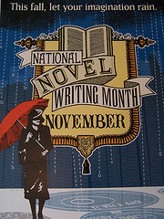 NaNoWriMo - National Novel Writing Month - poster