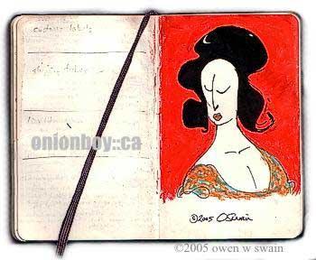 Owen's Opera Lady drawing